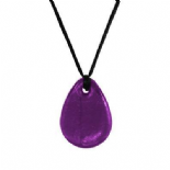 Raindrop Pendant - 'Heather' (Purple) - Chewigem